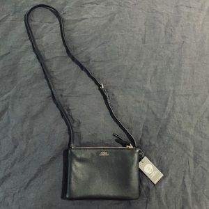 Vince Camuto black leather amira crossbody bag NWT